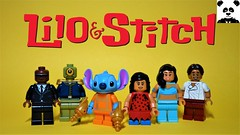 Lilo and Stitch (HaphazardPanda) Tags: lego figs fig figures figure minifigs minifig minifigures minifigure purist purists character characters films film movie movies tv lilo stitch disney nani pelekai cobra bubbles pleakley david kawena