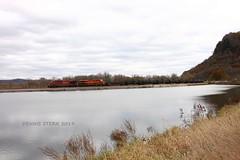 CP 8749, WB, RENO, MN 11-2-19 (TRAINFLAMES) Tags: canadianpacific cp kansascitysouthern kcs ge es44ac oiltrain train mississippiriver water reno minnesota