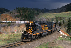 Thundering at Coal Creek Canyon (Moffat Road) Tags: riogrande denverriograndewestern drgw freighttrain storm coalcreekcanyon clay plain plainview upmoffattunnelsub tunnelmotor emd sd40t2 unionpacific up mdvro manifestfreight train railroad locomotive colorado co