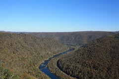 View of the New River from Grandview's Main Overlook (Itinerant Wanderer) Tags: westvirginia newrivergorgenationalriver nationalparkservice nps
