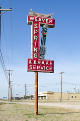 Dream Weaver (dangr.dave) Tags: downtown historic architecture sign texas tx weaverspringbrakeservice springandbrakeservice weaver hutchins neonsign neon