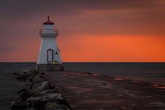 Aftermath (Bert CR) Tags: sunset colorful colorfulsky colorfulsunset orange glow orangeglow rangelight jetty aftermath lake lakehuron favoritehaunt revisiting slowshutter shutterdrag