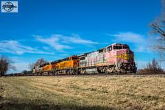 Eastbound BNSF High Priority Manifest Train at Shawnee, KS (Mo-Pump) Tags: train railroad railfan railroader railway railroading railroads railfanrailroader locomotive
