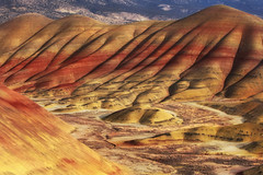Painted Hills (Ian Sane) Tags: red sunlight colors oregon ian images bands mitchell paintedhills sane laterite sevenwondersoforegon camera canon lens landscape photography eos is r usm ef70200mm f28l 5ds county wheeler