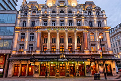 Her Majesty's Theatre (Croydon Clicker) Tags: theatre building architecture evening lights street phantom opera playhouse structure london nikon sigma