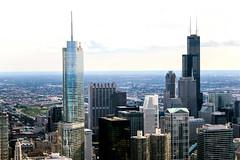 Tall and Taller (Ken S Three) Tags: skyscraper skyline chicago willistower trumpworldhotel tallbuilding