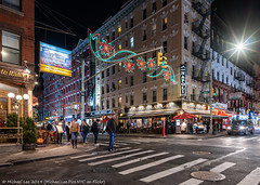 Mulberry Street (20191122-DSC09966-Edit) (Michael.Lee.Pics.NYC) Tags: newyork mulberrystreet littleitaly night street storefront christmas holiday lights decorations architecture cityscape sony a7rm4 zeissloxia21mmf28