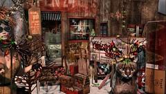 Jingle Rusty Bells (tralala.loordes) Tags: drd deathrowdesigns drdblogger drdblogging secondlife sl slblogging virtualphotography virtualreality vr flickrblogging flickrart fantasy postapocalypse postapocalyptic tralalaloordes tralala tra thelastchristmasshop armegeddon avatar xmas jinglerustybells holiday uber sled ornaments useddecorshelf oldwrappingpaper overturnedcounter virtualcat