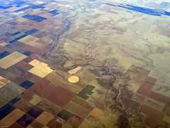 North Butte Creek, CO (zeesstof) Tags: aerial aerialview businesstrip commercial commercialflight flight geo:lat=3780447235 geo:lon=10221287420 geotagged houstontodenver iahtoden triptodenver unitedairlines viewfromwindow zeesstof