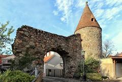 Zwingenberg  Die Aul Befestigungsturm (wernerfunk) Tags: hessen tower architektur citywall