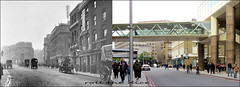 Tooley Street`1910-2019 (roll the dice) Tags: london londonbridge old se1 southwark courage publichouse beer ale vanished demolished local history sad mad surreal changes collection streetfurniture architecture media nostalgia traffic cars horsecart comparison canon tourism tourists oldandnew pastandpresent hereandnow urban people fashion england classic uk art retro bygone transport stout cottonswharf chimney crossing edwardian victorian ornate dirty grim nationalrail