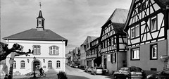 Zwingenberg (wernerfunk) Tags: hessen dorf village schwarzweiss blackwhite