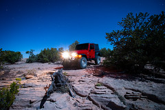 Midnight Ride (theskyhawker) Tags: outdoors dust car jeep 4x4 off road dirt desert rocks night gallup new mexico four corners usa long exposure