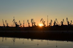 . welcome to the carbon age - final chapter! (. ruinenstaat) Tags: tumraneedi murmansk port coal carbon cranes sunset russia russland haven ruinenstaat