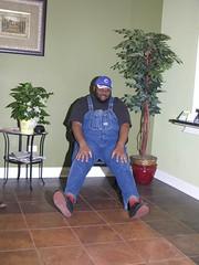 IMG_2003 (180g895.ercf) Tags: husbear sleeping soundasleep biboveralls bibs doctoroffice vans vanssneakers plimsolls blackblack monochrome slipon sliponsneakers vanssliponsneakers blacktshirt redsocks doctorsoffice