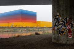 Berlin`s Exurbs | Berliner Speckgürtel 2 (Bernd Walz) Tags: businesspark grafitti bridge canal berlin´sexurbs speckgürtel transformedlandscape artificiallandscape newtopographics landuse havelland brandenburg wustermark fineart