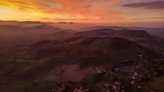 Appennino Reggiano (Olmux82) Tags: landscape autumn autunno mavic dji air aeraial view sunset clouds cloud
