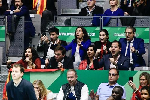 Díaz Ayuso asiste a la final de la Copa Davis presidida por S.M. el Rey Don Felipe