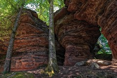 Altschlossfelsen (V) (Eric@focus) Tags: dxophotolab2 bitcherland rocks sandstone wideangle tokina1116mmf28 palatinateforestnorthvosgesbiospherereserve