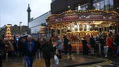 Carousel at Christmas (WISEBUYS21) Tags: christ christmas market newcastleupontyne newcastle northeastofengland street northumberland lights fairy amusements fair funfair stalls food carousel helter skelter slide 2019 december wisebuys21 world shops shopping crowds happy shoppers good times warm feeling laughing drinking beer love sharing best cityscape photography favourite faves money milleniumbridge panorama party positive star tynebridge uk view tyne wear newcastleuntited big