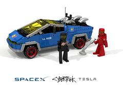 Telsa SpaceX CyberTruck (lego911) Tags: cybertruck cyber truck cybrtrck elon musk classic space mars spaceman auto car moc model miniland lego lego911 ldd render cad povray afol visionary bev battery electric vehicle foitsop spacex tesla
