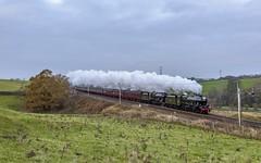 Stanier Duo (4486Merlin) Tags: 4556245699 england europe northwest transport steam alberta railways 46115 scotsguardsman exlms lms6p5fjubilee lms7proyalscot unitedkingdom cumbria wcml greatstrickland santaspecial wcrc