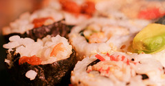 Sushi (Elisafox22) Tags: elisafox22 sony ilca77m2 100mmf28 macro macrolens telemacro lens hmm macromondays food rice nori seaweed sushi mainmeal plum umeboshi wasabi light bokeh kitchen stilllife indoors elisaliddell©2019
