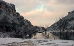 Mangup-Kale (turkevych) Tags: crimea mountains winter snow lake sunset