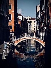 An Afternoon In Venice (Professor Bop) Tags: olympusem1 veniceitaly buildings architecture professorbop drjazz canal water bridge reflections shadows afternoon mosca