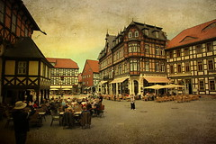 memories of may... (berber hoving) Tags: holidays germany harz wernigerode people terras sunday texture edv