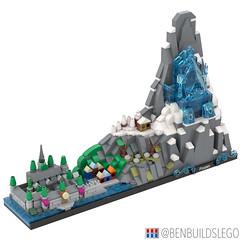 "Disney's ""Frozen"" Lego Skyline (2) (BenBuildsLego) Tags: frozen disney lego legos cute micro microscale architecture skyline benbuildslego anna elsa 2 ice palace castle animated movie arendelle snow winter village"