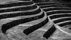 Lágrimas en el océano como estanques de frío (.KiLTЯo.) Tags: kiltro peru moray maras ruins geometry history incas quechua bw blackandwhite terrace archeology archeological
