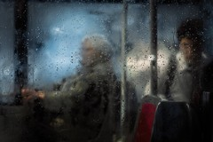 The beauty of rain (ks.bellevue) Tags: rainyday streetphotography buswindow peopleinthestreets raindrops