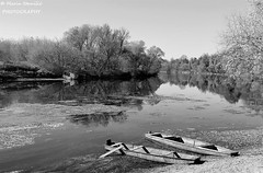 Karlovac, Croatia - B/w autumn 2019. on river Kupa (Marin Stanišić Photography) Tags: river kupa bw autumn 2019 boats karlovaccounty croatia reflection mobileshot flickrunitedaward saariysqualitypictures