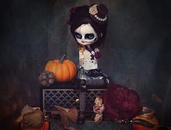 Octobre (Ma★D ❥parker - custom dolls etc.) Tags: october octobre dal ooak zombie dead doll poupée custom customisation skeleton citrouille halloween pumpkin