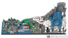 "Disney's ""Frozen"" Lego Skyline (4) (BenBuildsLego) Tags: frozen disney lego legos cute micro microscale architecture skyline benbuildslego anna elsa 2 ice palace castle animated movie arendelle snow winter village"