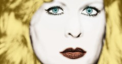 BOND & BLOND (bert • bakker) Tags: martinebond blond blonde redlips rodelippen blauweogen eyes vrouw woman nikon85mm18g blueeyes