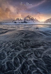 Nordic lights (Perez Alonso Photography) Tags: sunrise winter norway lofotenislands mountains beach sea nordic arctic clouds textures