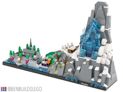 "Disney's ""Frozen"" Lego Skyline (3) (BenBuildsLego) Tags: frozen disney lego legos cute micro microscale architecture skyline benbuildslego anna elsa 2 ice palace castle animated movie arendelle snow winter village"