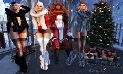 SANTA'S HELPERS (Rachel Swallows Inworld Elenamicheals Core) Tags: saltandpepper uber fashion winter snow christmas fur secondlife