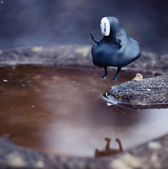 No-Face Cannonball Dive (Jezbags) Tags: canon canon80d cannonball dive noface spiritedaway studio ghibli studioghibli film cartoon anime toy toys toyphotography japan