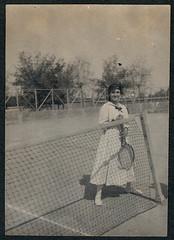 Tennis player, 1919-1924