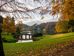 Stourhead the other direction (Brook Fabling) Tags: stourhead lake bridge water olympus 17mm
