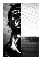 Half head (Jean-Louis DUMAS) Tags: black bw nb white noir blanc architecte architect nuage cloud architectural architecture noireblanc photos noretblanc travel trip bordeaux statue monochrome monument architecturale blackwhitephotos blackandwhite blackwhite noiretblanc