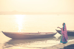 A Prayer (Rash_mint) Tags: prayer woman boat morning river ganges