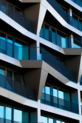 Abstract Architectural Photography 61 (Récard) Tags: abstractarchitecture architektur facade blue abstract geometry balconies glas awardtree