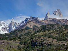 Cerro Torre and Mount Fitz Roy (lvalgaerts) Tags: el chaltén fitz roy mount chalten mountain andes fog clouds cerro torre argentina chile south america hike trek