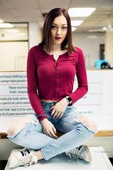 Alyssa (Ray Akey - Photographer) Tags: alyssa laundry laundromat pose posing girl female woman lady brunette casual seated