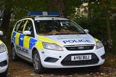 AY61 BUJ (S11 AUN) Tags: suffolk police ford focus driver training drivingschool area patrol panda car irv incident response vehicle 999 emergency ay61buj