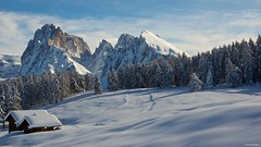 IMGP4140 Winter time (Claudio e Lucia Images around the world) Tags: alpedisiusi valgardena dolomiti alpe di siusi val gardena snow winter mountains adler lodge ortisei sassolungo sassopiatto sky christ cross pentax pentaxk3ii pentaxcamera pentaxlens pentaxart cold unesco pentax18135 gröden sciliar clouds tree sella sellagroup snowstorm sunrise woods